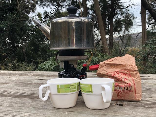 コールマン400Bとコーヒー