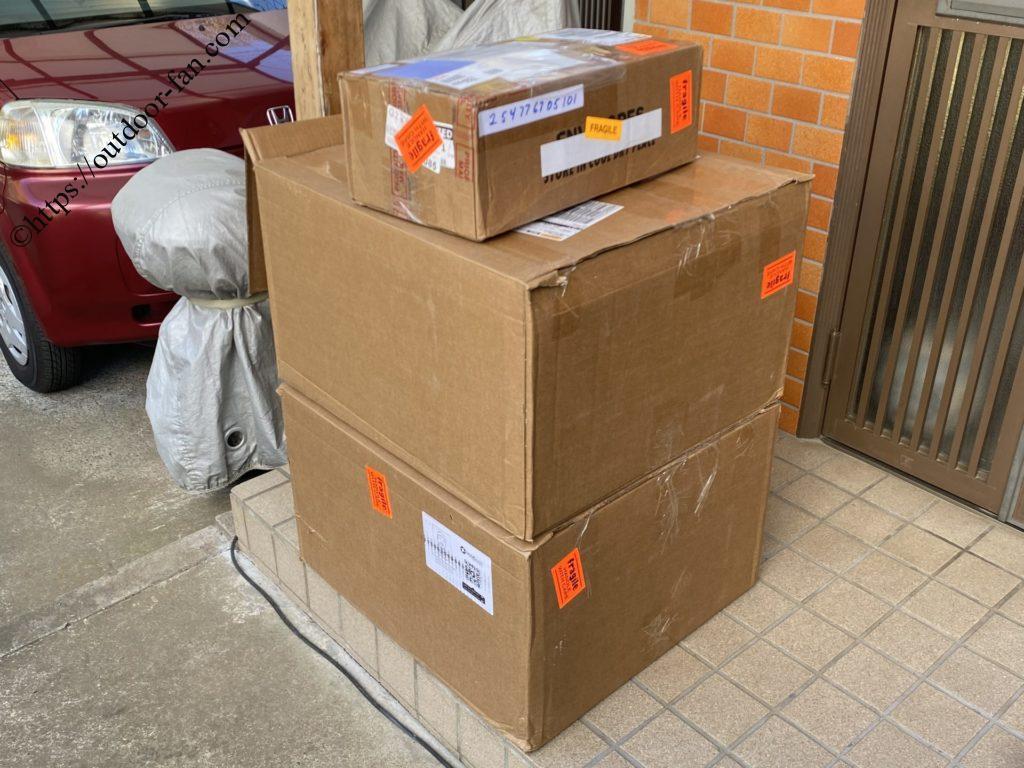 米国倉庫からの荷物